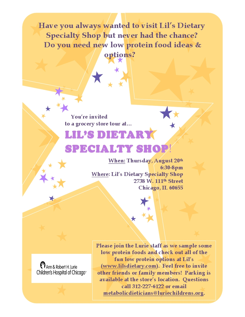 Flyer- Lil's Grocery Store Tour