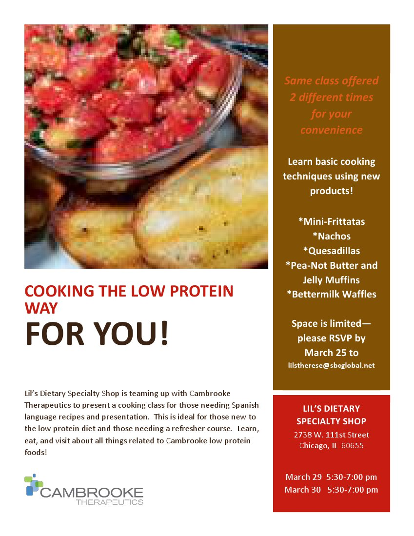 Cooking the Low Protein Way flyer Eng