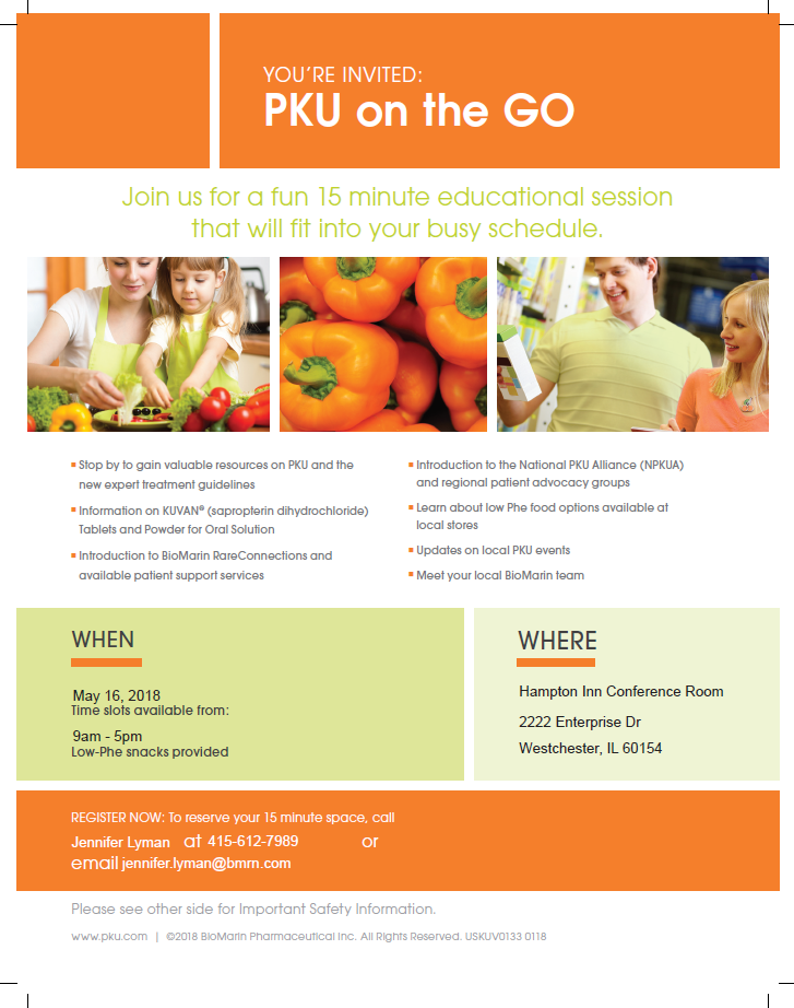 Event this week – PKU on the Go!